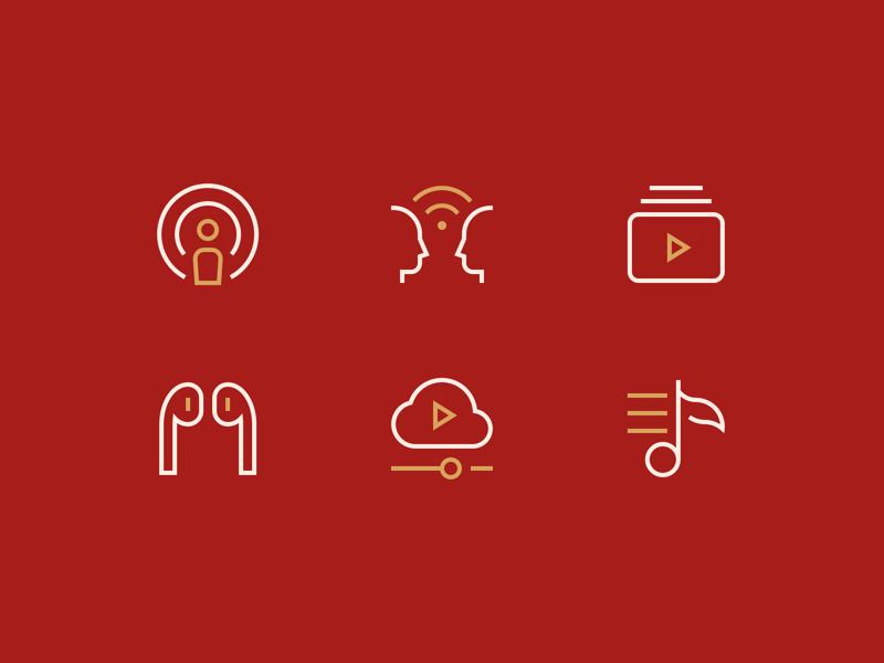 Multimedia Icons airpods music multimedia stroke iconset outline illustration icon minimal icons