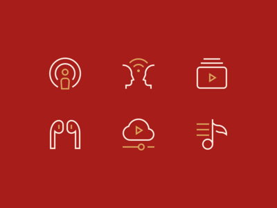Multimedia Icons airpods music multimedia stroke iconset outline illustration icon minimal icons