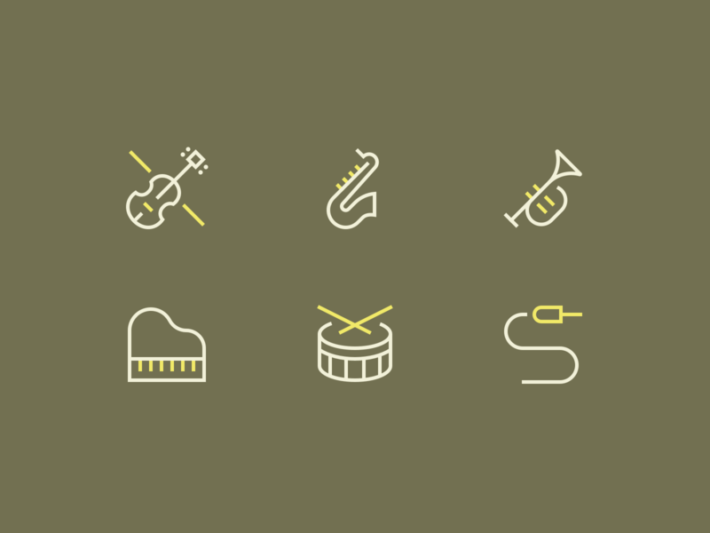Music Icons vector clean perfect illustration minimal iconset outline icon icons