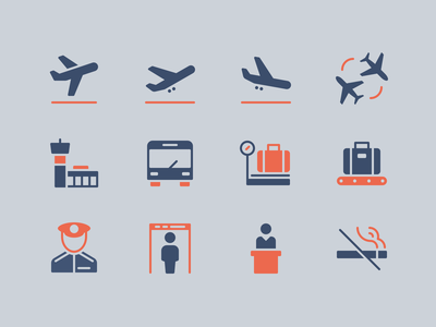 Airport Icons airline glyph airport iconset perfect clean illustration icon rodchenkod minimal icons
