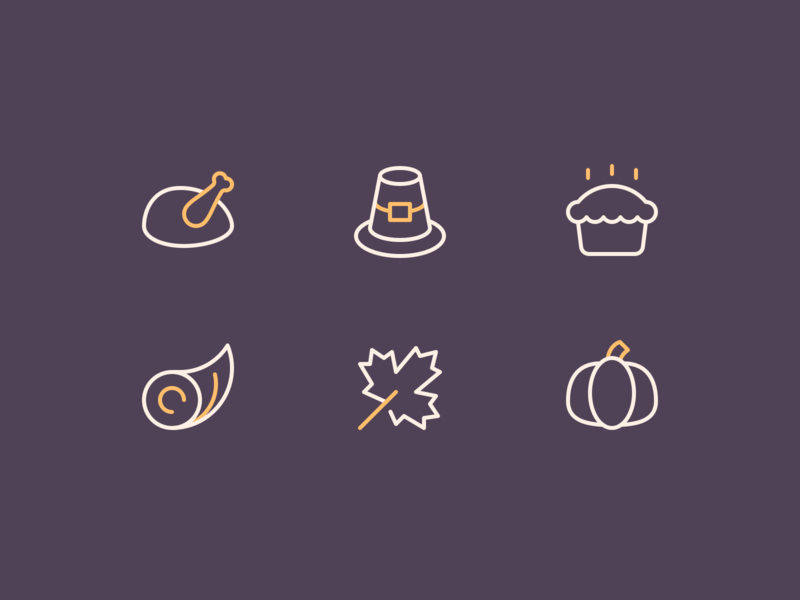 Thanksgiving Icons stroke holidays thanksgiving outline rodchenkod iconset illustration minimal icons