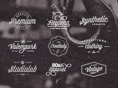 Badges with Authentica Script