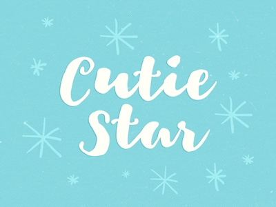 Cutie Star Free Font wedding invitation typeface poster lettering hand-drawn hand made greeting card free fonts free cursive calligraphy brush