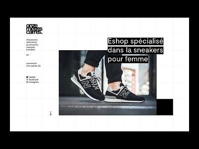 Onze Mètres Carrés — Home page webdesign ux ui shop shoes product grid design contrast concept