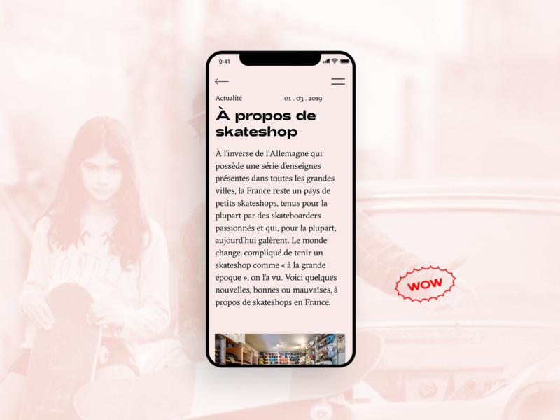 À propos — Home page media skateshop mag font animation ux ui skateboard skate webdesign home design