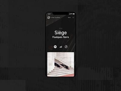 Le Dojo / 75è session —Album page pixel iphone ux ui music rap retro glitch session 75 dojo mobile webdesign design