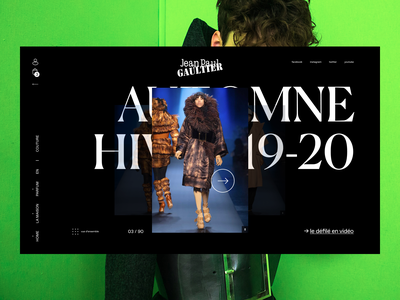 Jean-Paul Gaultier - Couture Page interactive webdesign design ux ui parade mode couture gaultier jeanpaulgaultier
