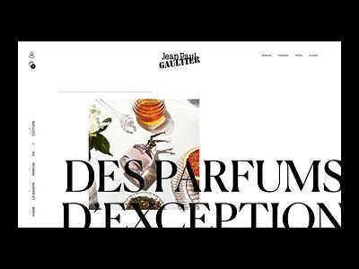 Jean-Paul Gaultier - Home Page webdesign parade modern jeanpaulgaultier interactive gaultier ux ui design couture