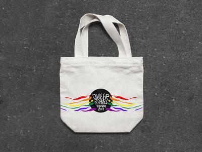 queer olympics istanbul 2017 lgbtq queer branding totebag bag print design logo flat vector illustration design