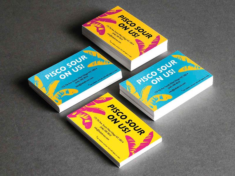 pisco on us! restaurant branding restaraunt commercial branding and identity corporate vector graphic design branding advertising promotional design printed print design businesscard business