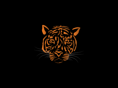 TIGER animal kingdom minimalistic art minimal gradient simple illustration logo design orange animal jungle wild cat lion tiger