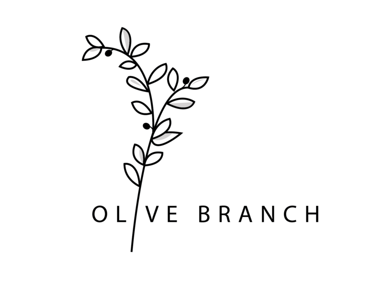 Olive Branch Logo design olive branch olive blog logo