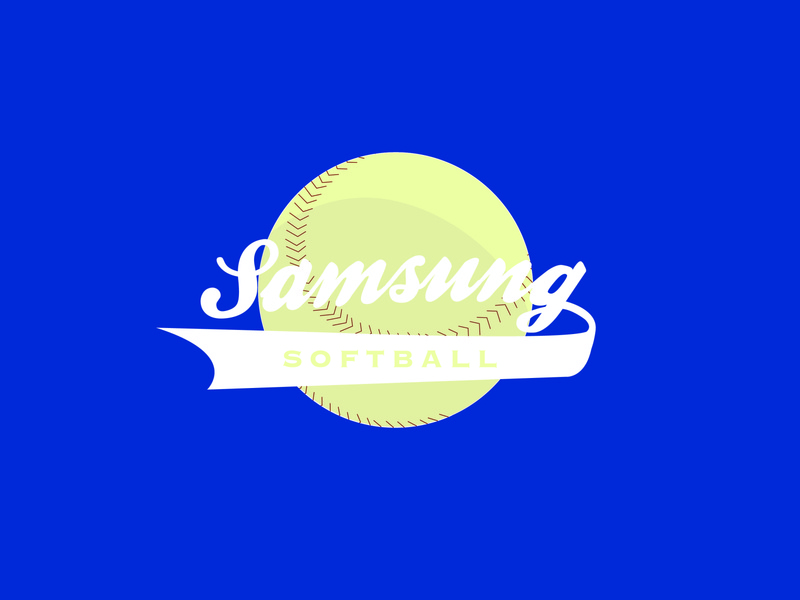 Samsung Softball Team Logo baseball jersey design softball samsung logo