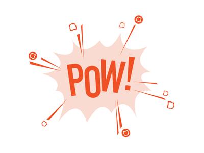 POW boxing team pow! logo shirt design comic book toast pow
