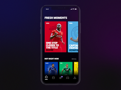 Heed App bold score game ios ui design application infographics info cards match highlight news live football sport ux uiux ui app heed