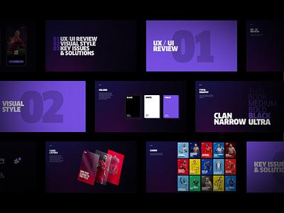 Heed App deck sport football branding colors typography slides cards design concept ui ux ios app ios