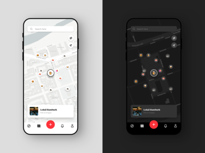 Passant Discover Screen light dark ux ui ux design minimal clean simple ui design app ios white navigation discover restaurant food emojis icons places map