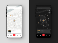 Passant Discover Screen light dark ux ui ux design minimal clean simple ui design app ios white navigation discover restaurant food emojis icons places map