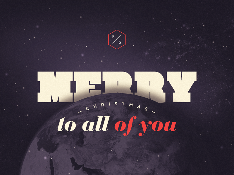 Merry christmas wish christmas merry space earth typography pf dark snow