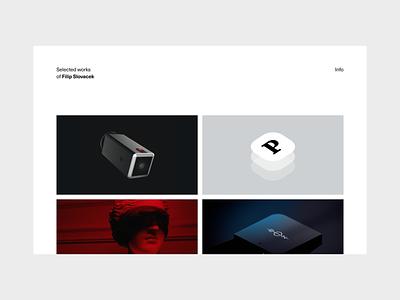 Portfolio 2020 / 01 simple white 3d typography art direction ux ui app webdesign minimal clean portfolio website