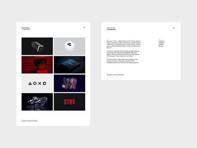Portfolio 2020 / 02 branding white design typography app minimal simple clean uiux ux ui gallery website webdesign portfolio