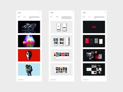 Portfolio 2020 / 04 interaction design minimal typography branding white app uiux ux ui simple clean webdesign website portfolio
