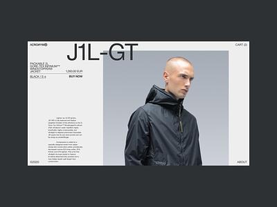 Acronym — Product Detail concept white branding website concept minimal website shop design ux uiux ui interaction webdesign typography ecommerce fashion clothing acronym