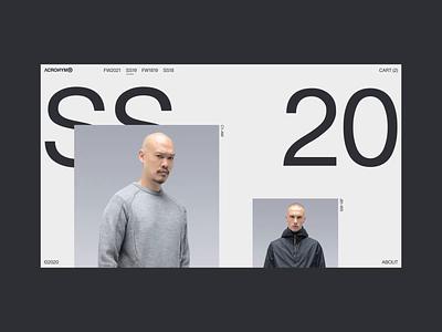 Acronym — Animation white design concept brand minimal fashion motion typography webdesign website ecommerce interaction ui ux animation