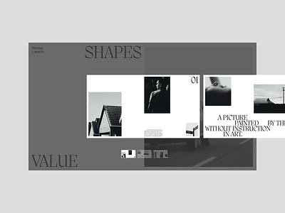 Navigation white uiux clean typography editorial layout grid story gallery photo minimal ux ui interaction blackandwhite horizontal navigation value webdesign website