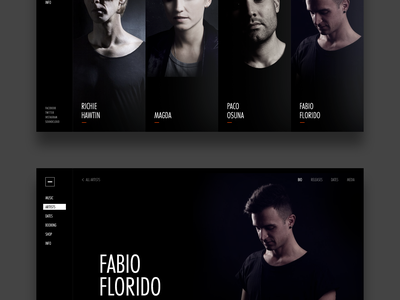M-nus Artists website techno cover artist music label minimal minus