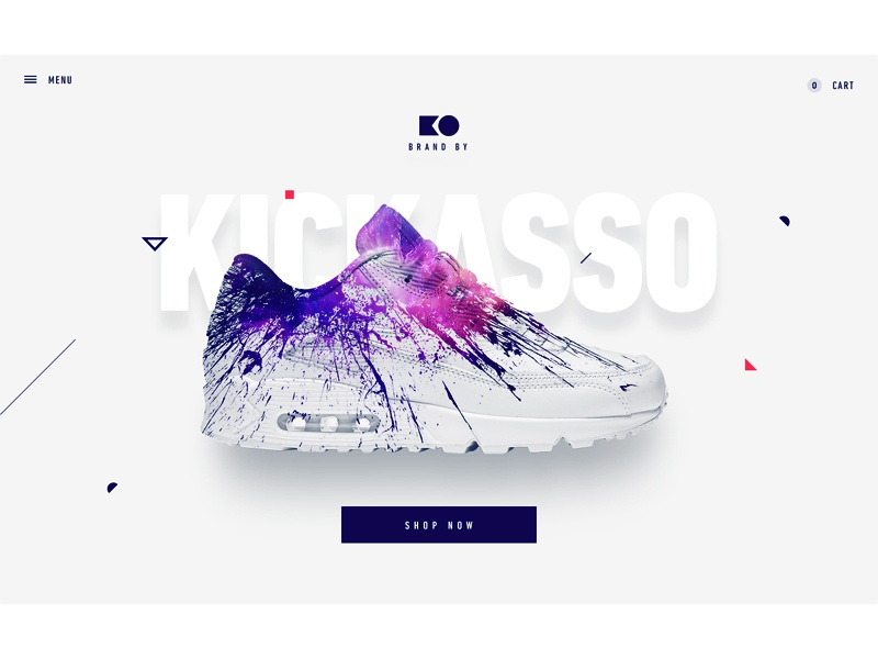 Ecommerce Web - Intro proposal kickass ko intro paralax website shop sneakers ecommerce