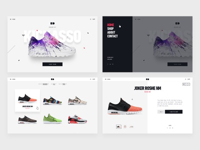 Sneakers Ecommerce Comps design kickass website shop proposal ecommerce sneakers