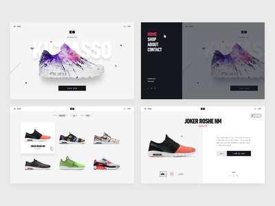 Sneakers Ecommerce Comps design kickass website shop proposal ecommerce sneakers