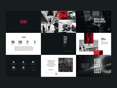 New STRV Sneak Peek 01 agency typography website branding condensed white red black strv redesign brand