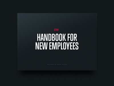 STRV Handbook editorial black typography branding brand history manual print book handbook