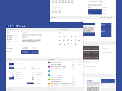 ENS Rennes style guide style guide materiel design user interface user experience web university minimal