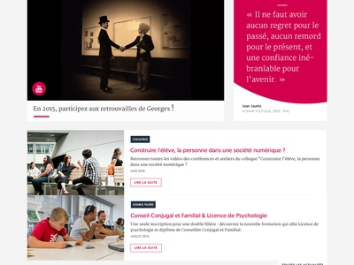 Lyon catholic university style guide university landing page homepage website