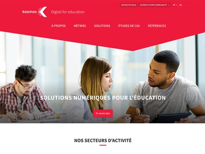 Kosmos - Digital for education school university education style guide website landing ux ui homepage