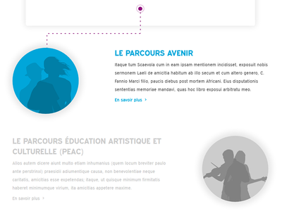Mes Parcours (Onisep Folios) content strategy ux ui landing page homepage