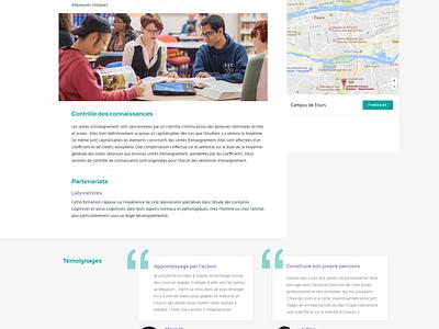 Université de Tours website academic homepage landing education university