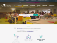 Université de Tours website academic homepage landing education university