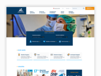 CHU de Nantes Hospital website ui ux website hospital landing homepage