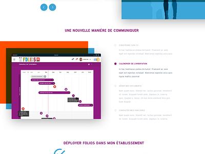 Homepage Folios (education) landing app application landing page interface education clean website web ux ui homepage