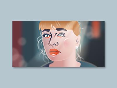 Delicate taylor swift fashion illustration portrait illustration design illustration figma