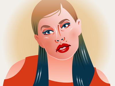 Look What You Made Me Do taylor swift fashion illustration portrait illustration vector design illustration figma