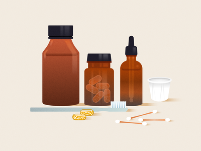 Supplements branding vector design illustration figma