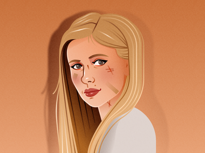 Portrait of a Fighter buffy the vampire slayer buffy fashion illustration portrait illustration vector design illustration figma