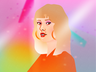 You belong with me rainbows rainbow taylor swift fashion illustration portrait illustration vector design illustration figma