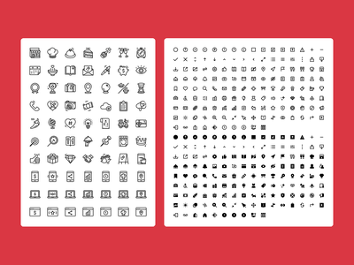 OpenTable Icon Set design systems food app ui ux iconography icon vector design illustration figma
