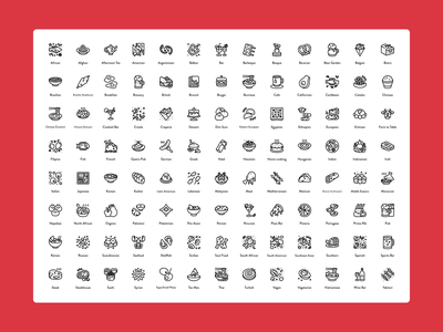 OpenTable Food Icons food illustration food app ux ui branding iconography icon vector design illustration figma